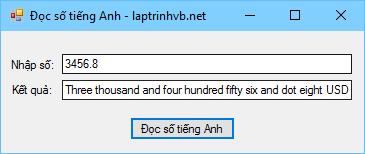 Chuyển đổi số thành chữ tiếng Anh trong VB.NET