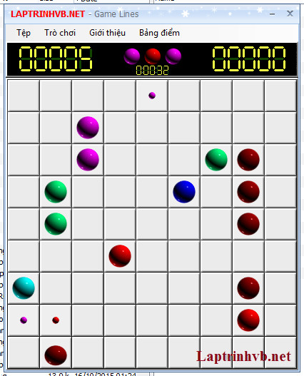 Viết trò chơi LINE với C#