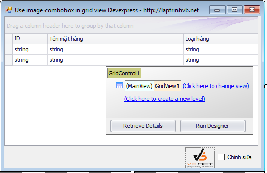 gridview combobox