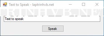 Đọc chữ thành tiếng bằng VB.NET