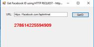 [VB.NET] Hướng dẫn sử dụng Http Request Post lấy Facebook ID