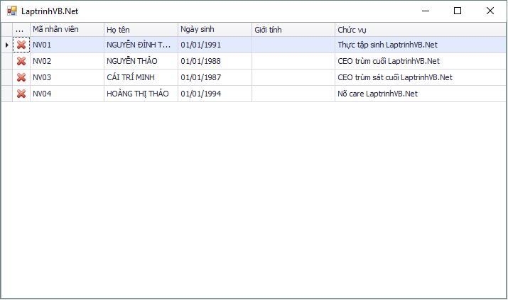 Thêm Button vào GridControl DevExpress