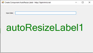 [C#] Hướng dẫn custom label Winform thành Auto Resize Label