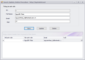 Hướng dẫn lập trình Insert - Update - Delete sử dụng Procedure Sqlserver 2008