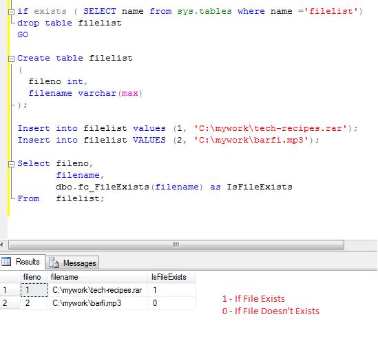 kiểm tra file tồn tại trên hệ thống sqlserver