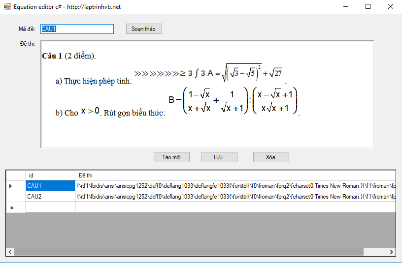 equation editor c#