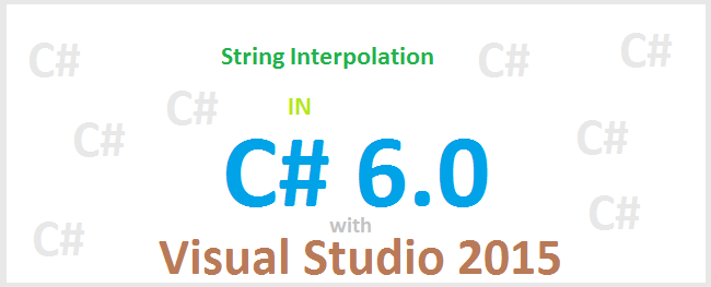 Interpolate string trong c#