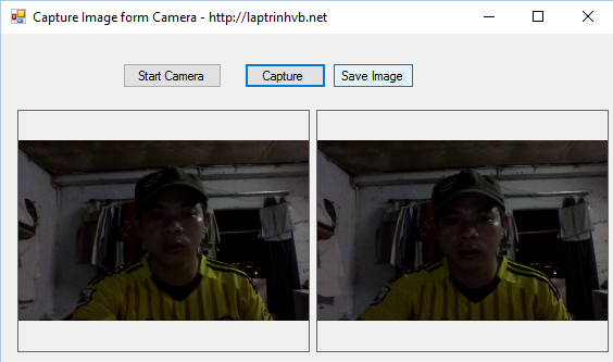 Tutorial Capture Image from camera