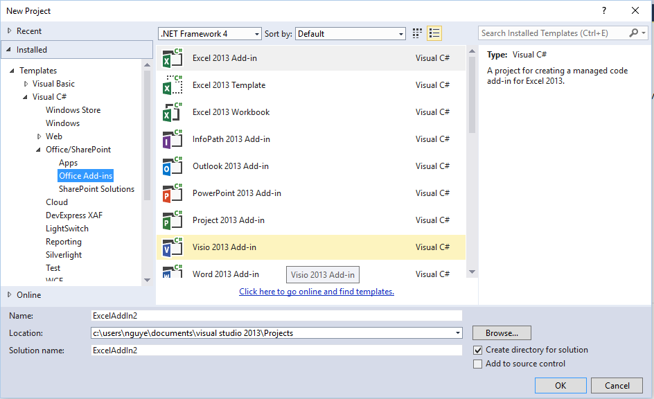 Viết add-in Excel bằng csharp, vb.net