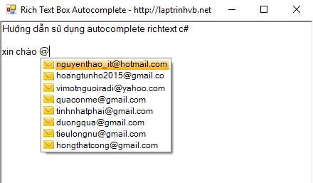 Autocomplete Richtextbox C#