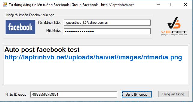 phần mềm tự động đăng tin lên facebook C#