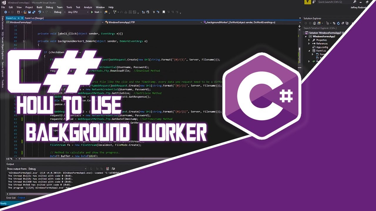 background worker c#