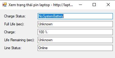 lập trình pin laptop c#