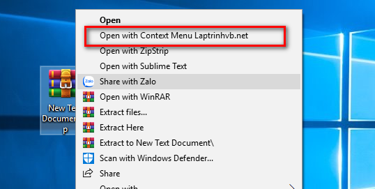 Shell context menu C#