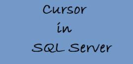 sử dụng cursor trong sql