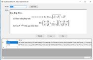 [C#] Hướng dẫn soạn thảo các biểu thức toán học vào lưu vào dữ liệu Sqlserver