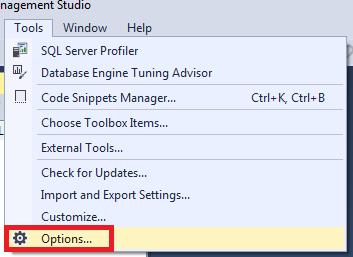 thay đổi giao diện sqlserver management studio