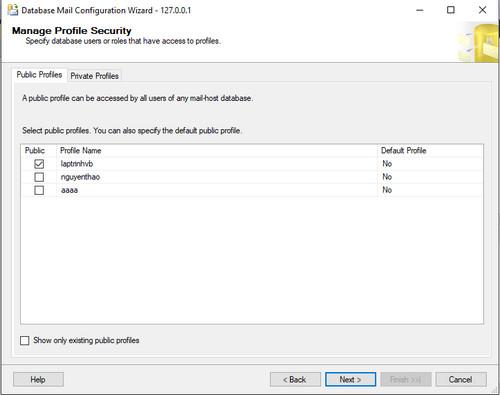 cấu hình email và gởi email sqlserver