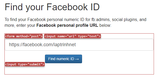 facebook id http request