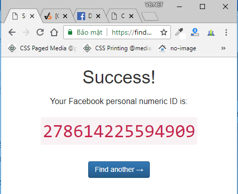 facebook id vb.net httprequest post