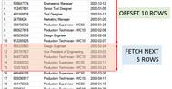 [SQLSERVER] Sử dụng từ khóa Offset và Fetch để phân trang trong sqlserver