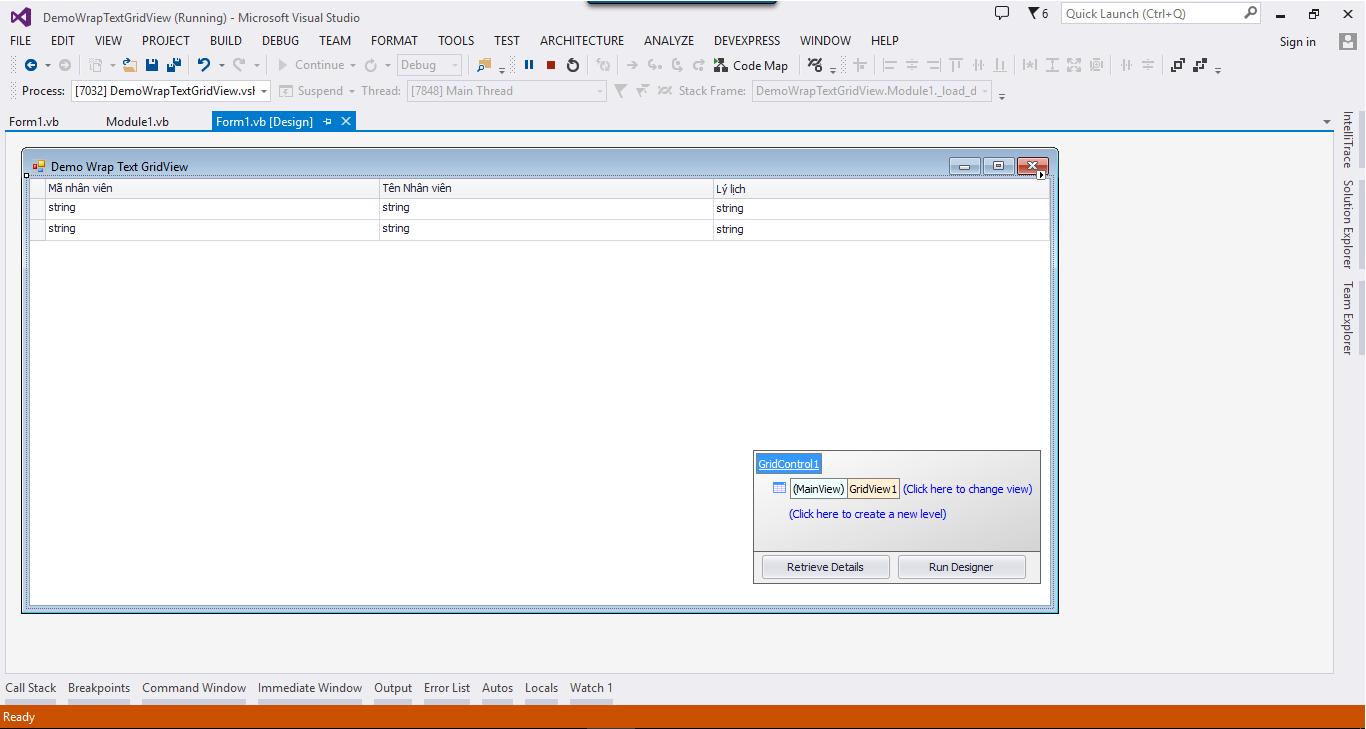 [LaptrinhVB.Net] from hiển thị Wrap Text  trên GridControl