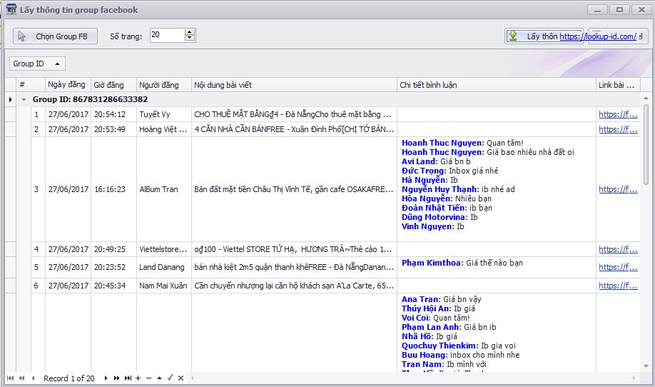 phần mềm lấy thông tin group facebook vb.net