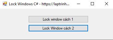 lock windows c#