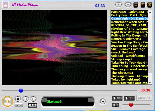 NT media player chương trình nghe nhạc