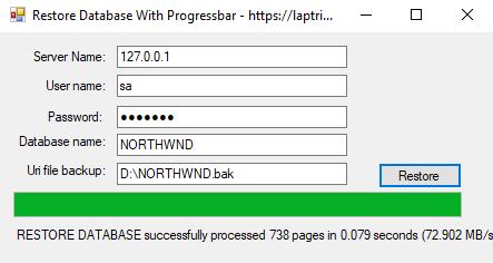 khôi phục database sqlserver c#