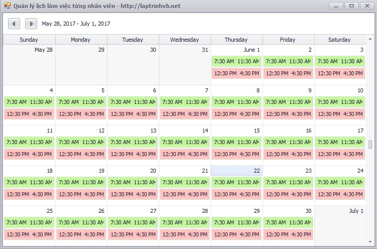 Schedule Control Devexpress Vb.net
