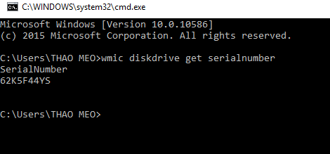 view serial number hdd cmd-dos