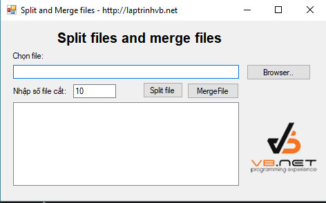Split and Merge files c#