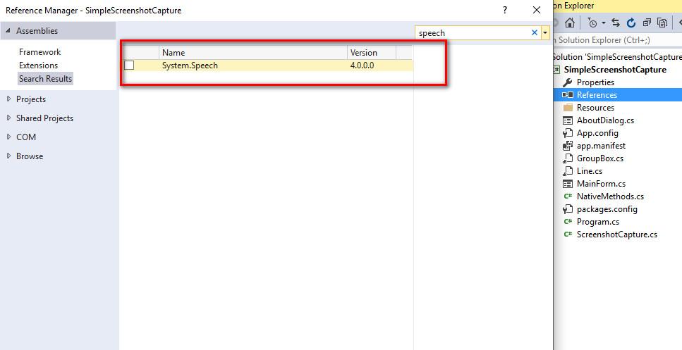 import system.speech c#