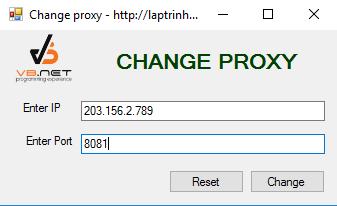 Thay đổi proxy C#