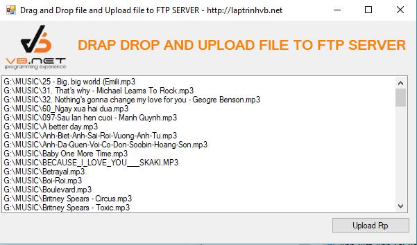Hướng dẫn lập trình upload file lên FTP server vb.net