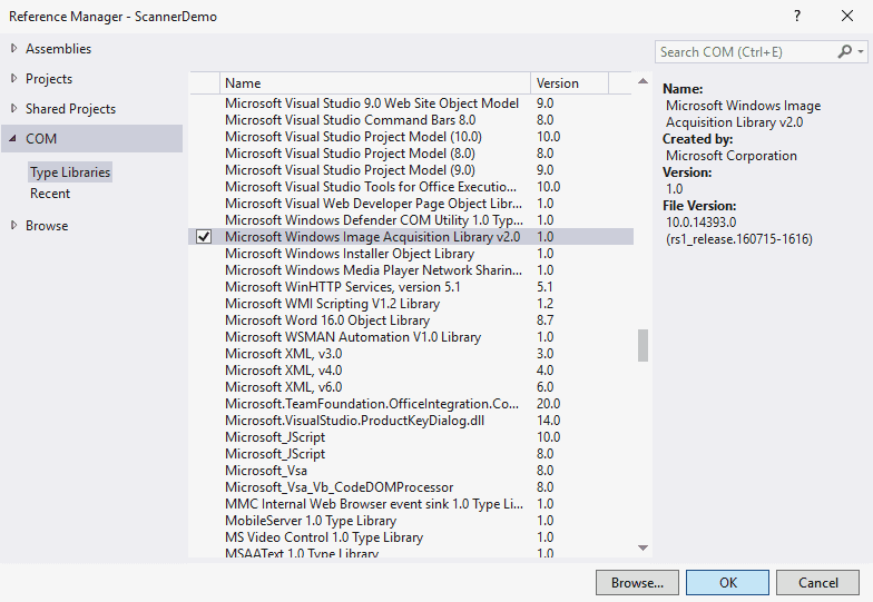 import thư viện scanner
