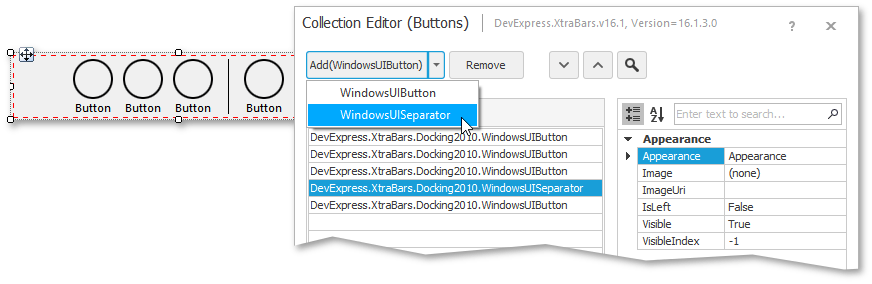 window ui button c#