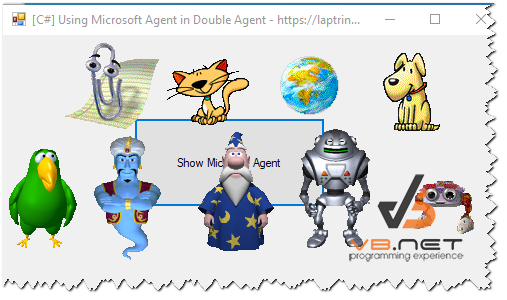 [C#] Sử dụng Microsoft Agent in Windows 7, 10 Winform
