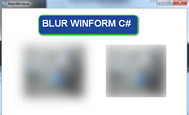 [C#] Hướng dẫn tạo hiệu ứng mờ ảo (blur) winform csharp