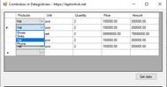 [VB.NET] Hướng dẫn sử dụng Combobox trên lưới DataGridView Winform