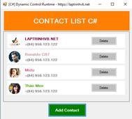 [C#] Hướng dẫn tạo Dynamic Control Runtime để hiển thị danh bạ