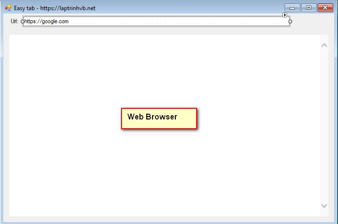 Sử dụng webbrowser c#