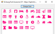 [C#] Hướng dẫn sử dụng Font Awesome làm icon trong Winform