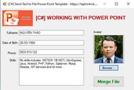 [C#] Làm việc với Microsoft PowerPoint file template trong Winform