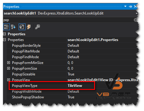 DEVEXPRESS] Hướng dẫn sử dụng layout TileView trong SearchLookupEdit