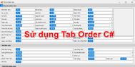 [C#] Hướng dẫn sử dụng Tab Order thiết lập Tab Index cho từng control