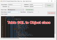 [C#] Chia sẽ tool POCO tạo class object từ table Sqlserver