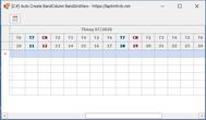 [DEVEXPRESS] Hướng dẫn thêm số ngày trong tháng trong BandGridView C#