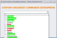 [DEVEXPRESS] Hướng dẫn custom màu chữ, nền, disabled CheckedComboboxEdit C#